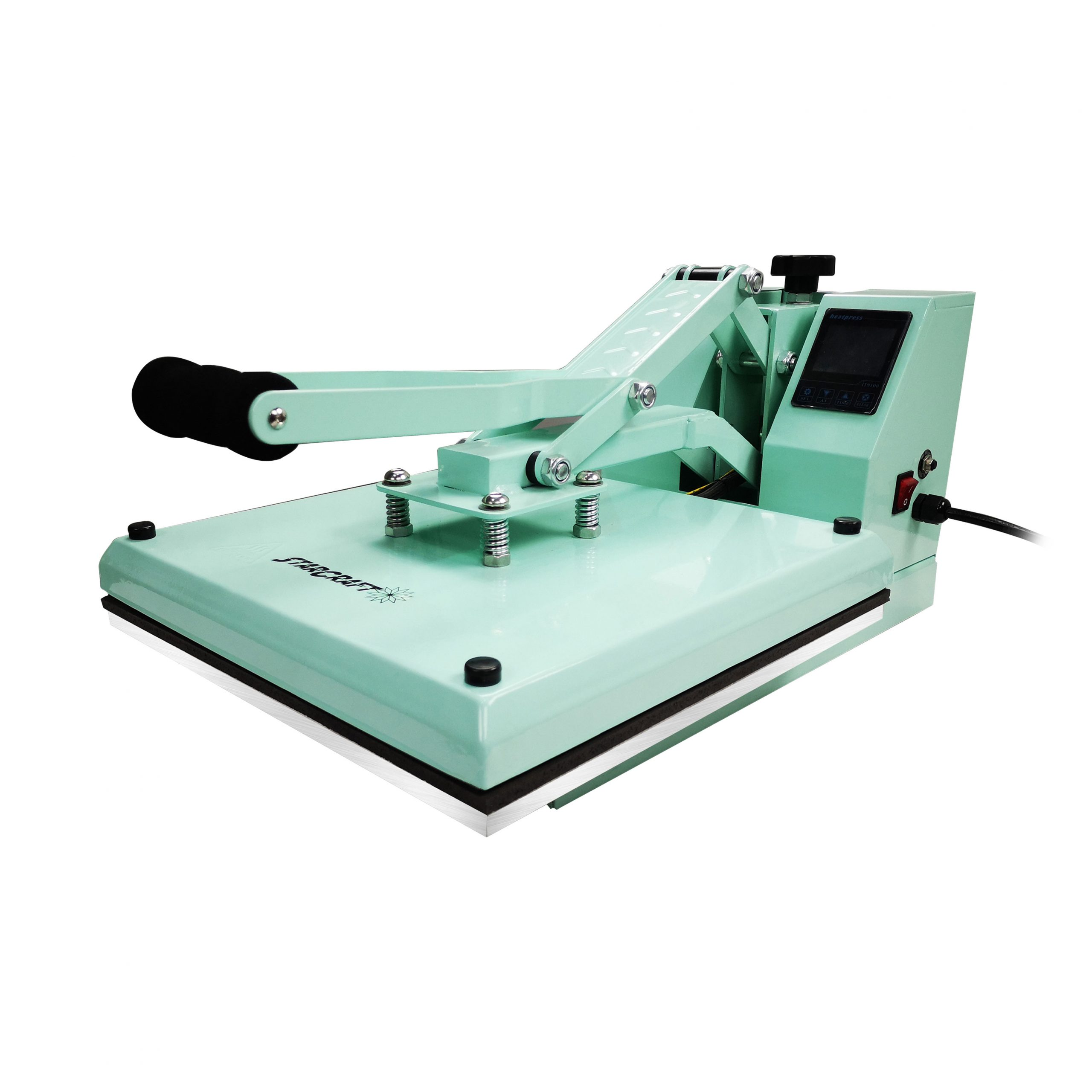 """StarCraft 15"""" x 15"""" Clam Shell Heat Press - Mint - Currently Out of Stock. ETA End of Feb."""